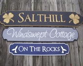 Quarterboards - Beach House sign - Cottage sign - Lake House sign - Personalized - Custom sign.