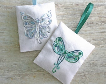 DIY pdf Crewel Embroidery Pattern Angels - Butterfly and Dragonfly digital download tutorial