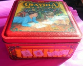 Vintage Christmas Crayola Tin Box 1992