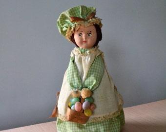 60s Bottle Doll Easter Doll Decor