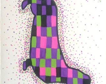 Dachshund Art, Wiener Dog, Doxie lover, Earth Dog, Original Painting