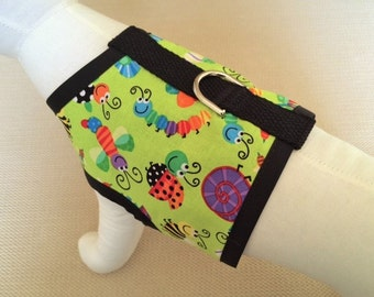 Colorful Bugs Dog Harness Vest