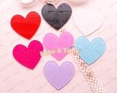 Glitter Hearts Laser Cut Acrylic Pieces (Big Size) | Acrylic Pieces Crafts | Acrylic Pieces for Jewelry - 7pcs