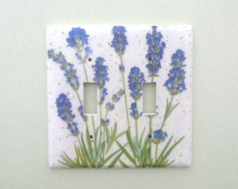 Double lavender light switch cover switchplate