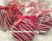 Valentine's Day Red and Pink Chocolate Covered Oreos Cookies Valentine Cookies Valentine Wedding Favors Valentine Chocolate Cookies Treats