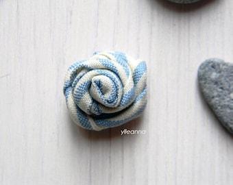 Men lapel pin - Flower lapel pin - Striped lapel pin - large or small boutonniere - pale blue