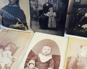 Antique Tintype and Cabinet Card Photograph - Women and Children Lot of 10