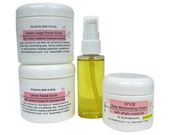 Oil Cleanser + makeup remover  - Ultimate Facial Cleansing Gift Set - clean + scrub + moisturize
