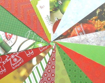 DESTASH - DCWV: Christmas Creations - Pack of 16 Different Scrapbook Papers, 6 inch X 6 inch