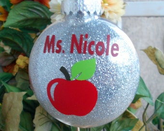 Christmas Ornament- Teacher Gift- Personalized Teacher Gift- Gift from the Student-Christmas-For the Teacher-Christmas in July-