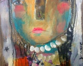 Stay True To Your Passion- an Original Mixed Media Painting by Juliette Crane