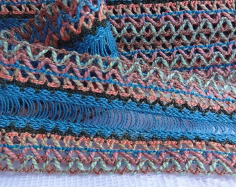 """Crochet Zig Zag Ribbon Trim, Zig Zag Ribbon, 1.75"""" (4.5 cm) Wide Ribbon Trim, Craft Ribbon Trin, Wide Ribbon Trim, 2 Yards"""