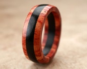 Custom Tulipwood Ebony Ring - 7mm