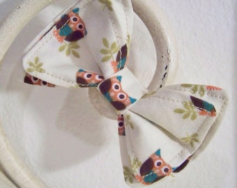 Boys Bow Tie - Owl Bow Tie-  Toddler Bow Ties - Newborn Bow Tie - Bow Tie - Bowtie - White Bow Tie- Mens Bow Tie - Baby Bow Tie