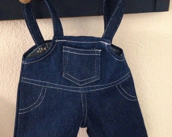 Overalls Upcycled for 18 inch Dolls