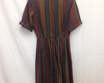 1950s striped dress by The Colleger.