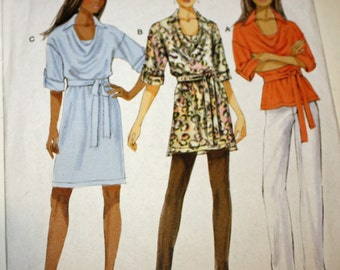Butterick B5923, Top, Tunic, Dress and Belt, Sewing Pattern, Misses' Size Large, XLarge and XXLarge, UNCUT, FF