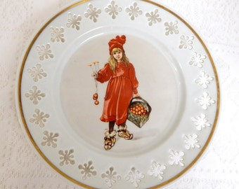 "B & G Carl Larssons ""Iduna"" Collectible Plate  Open work Border Limited Edition"