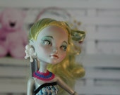 High Fashion Monster Doll, Repainted One of a Kind Doll, Delicate Beauty, Custom Art Doll