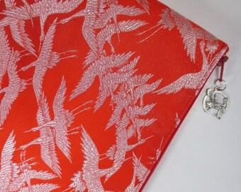 iPad Case made from vintage wedding kimono - One Thousand Cranes