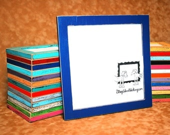 10x13 picture frame, Colored photo frame, weathered frame, Distressed frame, Colorful shabby frame, 67 colors 1.5""