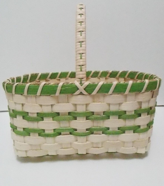 Flower Girl Baskets Green : Easter basket green flower girl