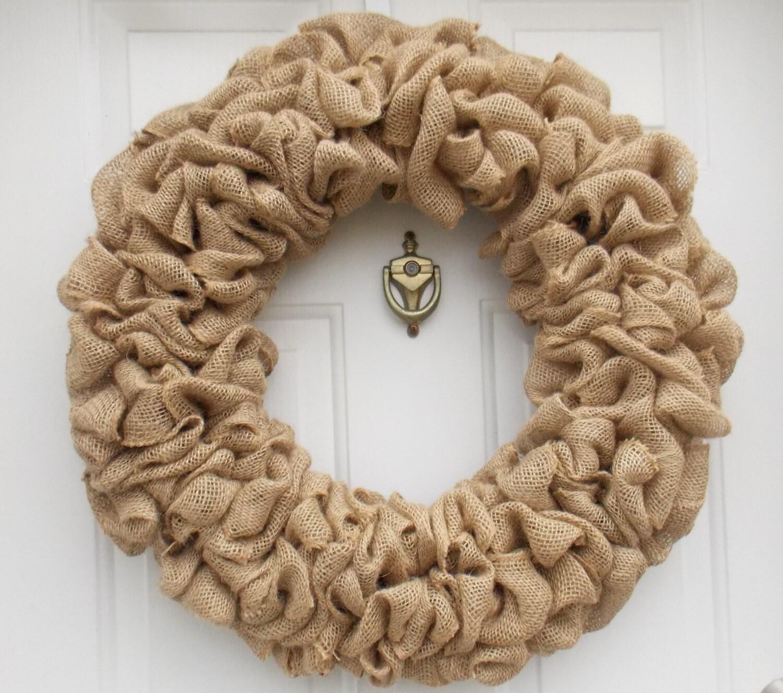 Welcome wreath for front door
