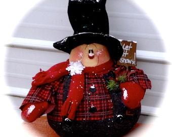 Nathan the shovel snowman