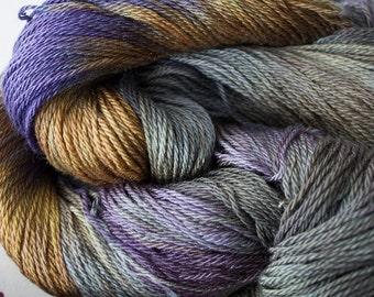 Firefly, hand dyed yarn, Superwash/Tencel, 4 oz, 412 yds- Summer