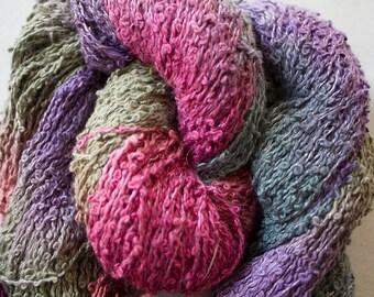 Warbler, Hand-dyed cotton boucle yarn - Desert