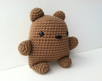 Gift For Kids Tan Teddy Bear Plush Toy Kawaii Plush Teddy Bear Nursery Decor Stuffed Animal Teddy Bear Plushie Bear Amigurumi Crochet Bear