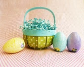 Easter Basket with Four Personalized Wood Eggs  ON SALE