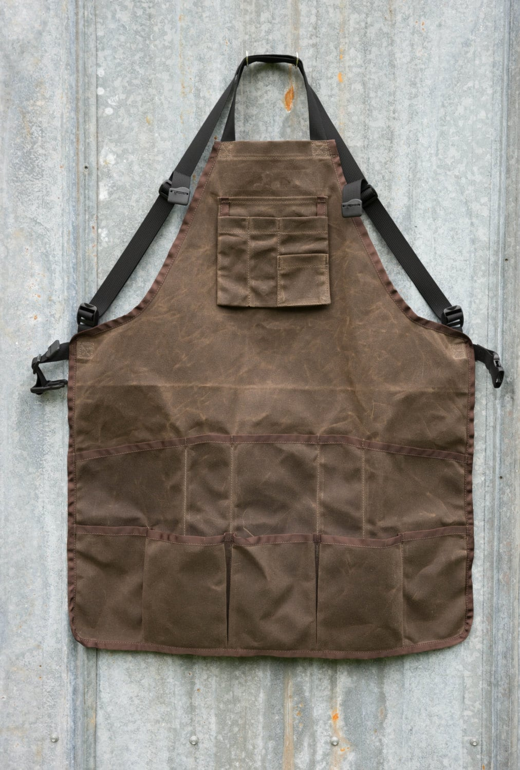 waxed canvas shop apron by randijofabrications on etsy. Black Bedroom Furniture Sets. Home Design Ideas