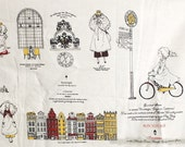 Unique Linen Collection-Girl's Journey Travel Around The World Nordic Europe Sweden Stockholm Street Buildings (1 BIG Panel, 47x55 Inches)