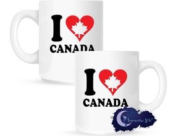 I Heart Canada 15 oz Coffee Mug