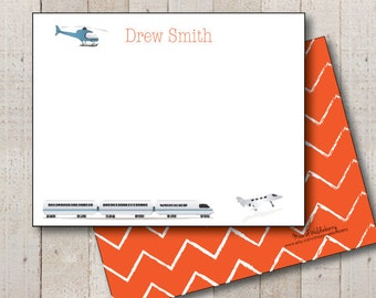 Kids Stationery // Boys Stationary // Baby Shower Thank You // Birthday Thank You // Aviation Stationery