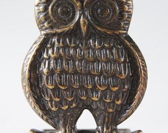 Brass OWL Bookend - brass