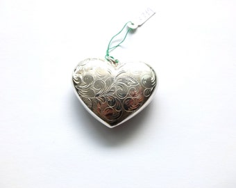 Engraved Sterling Silver Heart