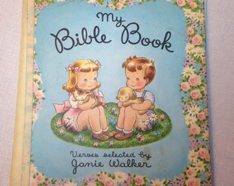 My Bible Book Janie Walker 50s Childrens Illustrated