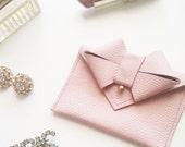 LAST CALL - Aoki Bow Wallet/Card Carrier - Blush