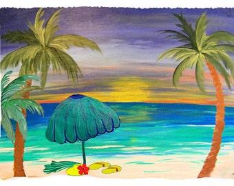 At the Beach Bath, Beach or Hand Towel from my art