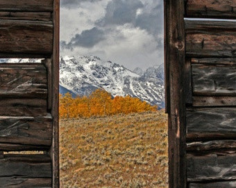 Mountain View - Deserted Homestead - Teton National Park - Grand Tetons - Old Homestead - Teton View - Fine Art Photography