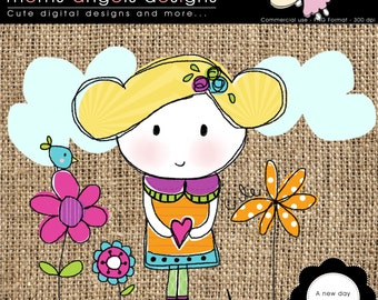 A new day clipart illustration - COMMERCIAL USE OK