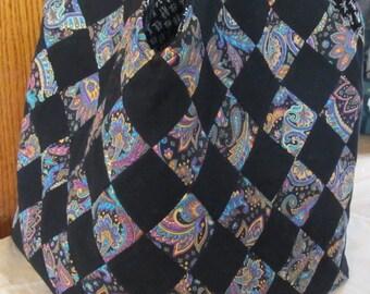 Black and Floral Print Mondo Bag