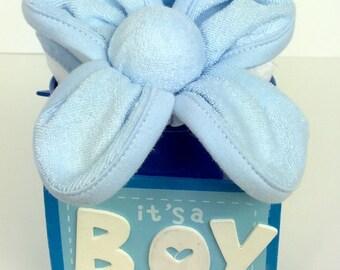 Blue baby Centerpieces, Blue Baby Shower blue floral arrangement,  baby bouquet, boy baby shower gift, boy baby shower centerpiece