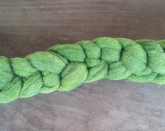 Hand dyed Corriedale wool roving, 3 oz.