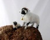 Needle Felted Swaledale Sheep and lamb