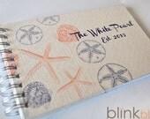 beach guest book- custom design