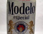 Modelo Especial Recycled Beer Package Memo Pad, Journal, Notebook, Mexico, Cerveza, Lions, Blue, White, Imported