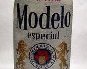 "Modelo Especial Recycling Bier Paket ""Merkzettel"", Journal, Notebook, Mexiko, Cerveza, Löwen, Blue, White, importiert"